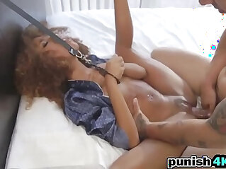 Ebony Chick Kendall Tied And Pounded In Bedroom