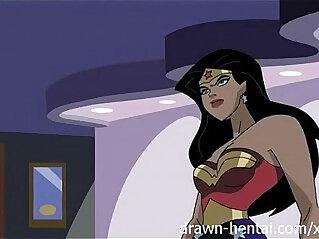 Superhero Hentai Wonder Woman vs Captain America