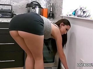 Gorgeous busty brunette big ass babe Aidra Fox fucks handy man