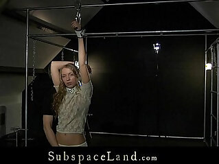 Curly blonde Mary Dream hard bdsm training