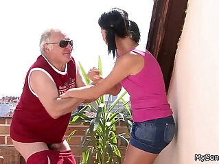 Horny father and sons girlfriend