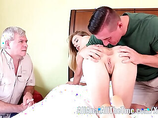 Tall Teen Haley Reed Cuckolds Step Dad With Cumshot!