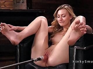 Small blonde fucking machine