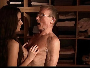 Big old cock flooding spa for nosy tiny young cunt