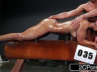 Gorgeous Brazilian Athlete Sophia Fiore Giving Head in the Gym