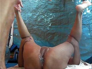 anal fuck the asshole of my wife audelina big cum shot on ass