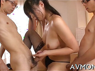 Hot mom seduces horny chaps