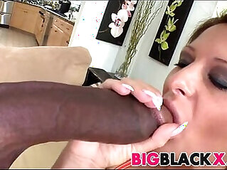 Hungarian Alison Star tries american black meat