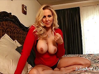 Busty brunette milf julia ann teases with big tits