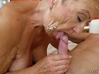 Old granny fucks young mechanic Lusty Grandmas