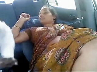 Tamil Aunty Other Men In Car