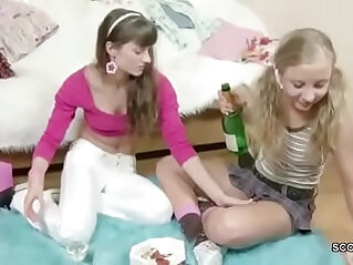 Brother Seduce his Step sister to get first time Lesbian Sex