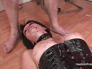 Big boobed french babe getting fucked hard corrected in BDSM action