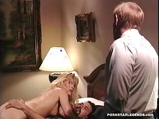 Classic porn star gets rammed hard style anal sex