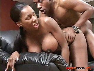 Busty girl gets her pussy boned