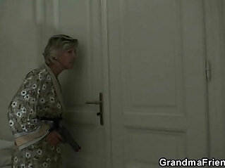 Mature slut mature lady is slammed by two robbers