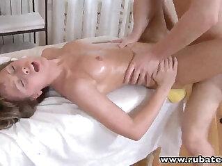 RubATeen Sexy Russian Jessy massage banged and facialized