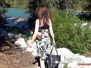 Canadian pussy outdoors milf shanda fay gets off