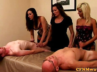 CFNM milfs tugging competition