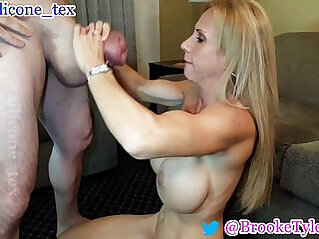 MILF Brooke Tyler and monster mamba cock Silicone Tex