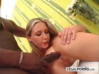 Big black big cock and fucking horny chicks in a threesome GB