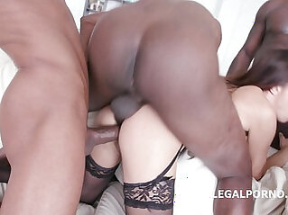 Interracial sex tape with Roxy Dee Airtight, Asshole destruction and Throat Fuck