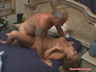 Cuckold Horny blonde Chick gets Fucked By Old Rich Guy