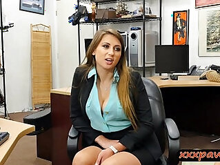 Natural tits blonde babe pounded by pawn guy