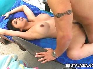 Gorgeous babe Mika Tan enjoys anal sex