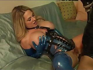 Big Tit MILF sucks and Fucks Sex Slave In Latex ANGELA ATTISON