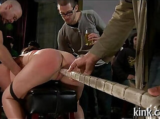 Breasty prisoner used as sex bondman