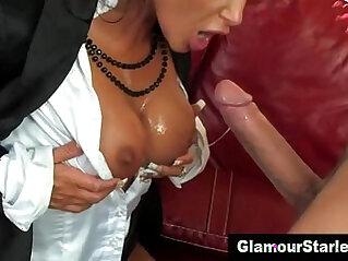 Nasty slut gets cumshot