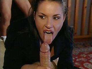 Jessica Gayle Italian Bitch sucks and fucks two cocks