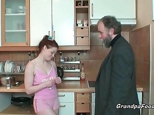 Redhead housewife gets cunt licked by her boss