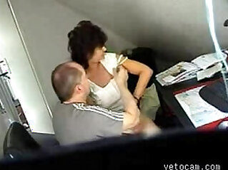 Video from hidden cam mature fucked really hard at office table
