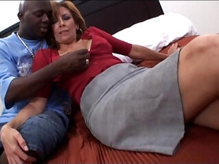 Amateur mature milf taking a big black cock Interracial Video