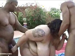 Amazon BBW Anastasia Fucks Big Black monster Cocks