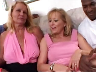 Blonde Moms share a Big Black mamba Cock together in Amateur Video