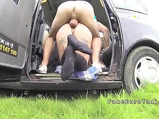 Pervert driver fucks busty babe
