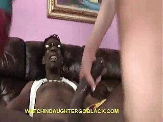 Blonde russian Teen Plowed by Black big Cock