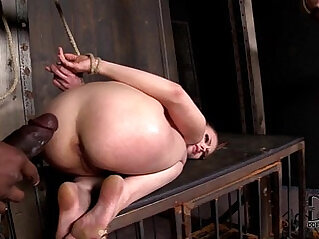 Two Hot Blonde lesbian Babes Caged, Flogged Forced To Suck and Fuck