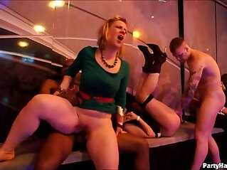 Blonde girl with big ole butt gets good
