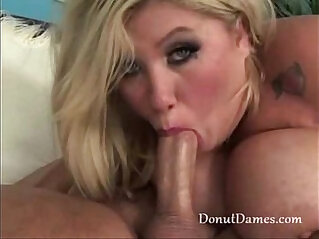 Huge natural tits fat girl blowjob with big round oiled up massive jugs